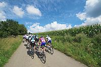 back of the peleton<br /> <br /> Eneco Tour 2013<br /> stage 2: Ardooie - Vorst (Brussel)<br /> 177km