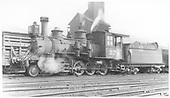3/4 fireman's-side view of D&amp;RGW #278 in Salida yards.<br /> D&amp;RGW  Salida, CO  Taken by Perry, Otto C. - 10/24/1938