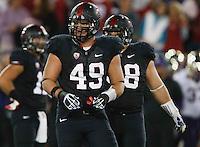 STANFORD,CA-- October 5, 2013:Ben Gardner during the Stanford vs Washington game Saturday night at Stanford Stadium.<br /> <br /> Stanford won 31-28.