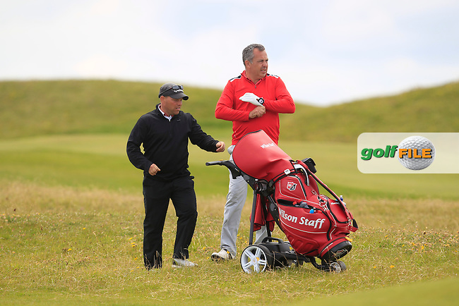 Pat Murray (Limerick) on the 1st fairway during Matchplay Round 4 of the South of Ireland Amateur Open Championship at LaHinch Golf Club on Saturday 25th July 2015.<br /> Picture:  Golffile | TJ Caffrey