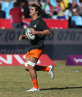 The Jaguares warm up for the Super Rugby match between the Vodacom Bulls and the Jaguares at Loftus Versfeld in Pretoria, South Africa on Saturday, 7 July 2018. Photo by Steve Haag / stevehaagsports.com