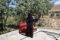 Lebanon - Jdeideh - Najiba, 63 years old, comes from the village of Soran, North of Hama. She arrived in Lebanon eleven months ago, after the first protests erupted in Hama. ?The Army was shooting at everyone, I remember seeing 50 or 60 people dead?. She now lives in a concrete shed, in an orchard on the outskirts of Jdeideh. In exchange of looking after the trees, she can stay for free. ?I would go back to Syria tomorrow, if it wasn't for the kids. I am very worried about their safety?, she explains, pointing at the four grandchildren she lives with.