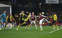 Burnley's Chris Wood scores his side's first goal  <br /> <br /> Photographer Rob Newell/CameraSport<br /> <br /> The Premier League - Watford v Burnley - Saturday 23rd November 2019 - Vicarage Road - Watford <br /> <br /> World Copyright © 2019 CameraSport. All rights reserved. 43 Linden Ave. Countesthorpe. Leicester. England. LE8 5PG - Tel: +44 (0) 116 277 4147 - admin@camerasport.com - www.camerasport.com