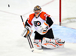 7 December 2009: Philadelphia Flyers' goaltender Brian Boucher makes a second period save against the Montreal Canadiens at the Bell Centre in Montreal, Quebec, Canada. The Canadiens defeated the Flyers 3-1. Mandatory Credit: Ed Wolfstein Photo