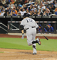 Masahiro Tanaka (Yankees),<br /> MAY 14, 2014 - MLB :<br /> Masahiro Tanaka of the New York Yankees singles for his first MLB hit in the ninth inning during the Major League Baseball game against the New York Mets at Citi Field in Flushing, New York, United States. (Photo by AFLO)