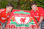 Patrick Fuller left and Killian Buckley Killarney who have won a trip to play in a game in Anfield on the 18th May after designing the Liverpool crest using 3,100 soft mints