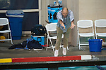 BERKELEY, CA - DECEMBER 04:  Head coach Kirk Everist of the University of California at Berkeley dives into the pool after winning the Division I Men's Water Polo Championship held at the Spieker Aquatics Complex on December 04, 2016 in Berkeley, California.  Cal defeated USC 11-8 for the national title. (Photo by Justin Tafoya/NCAA Photos via Getty Images)