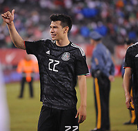 EAST RUTHERFORD, NJ - SEPTEMBER 7: Hirving Lozano #22 of Mexico at the end of the game during a game between Mexico and USMNT at MetLife Stadium on September 6, 2019 in East Rutherford, New Jersey.