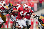 October 17, 2009: Wisconsin Badgers linebacker Chris Borland (44) during an NCAA football game against the Iowa Hawkeyes at Camp Randall Stadium on October 17, 2009 in Madison, Wisconsin. The Hawkeyes won 20-10. (Photo by David Stluka)