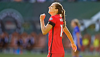 Portland, Oregon - Sunday September 4, 2016: Portland Thorns FC midfielder Tobin Heath (17) reacts after a missed shot during a regular season National Women's Soccer League (NWSL) match at Providence Park.