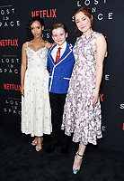 09 April 2018 - Hollywood, California - Taylor Russell, Maxwell Jenkins, Mina Sundwall. NETFLIX's &quot;Lost in Space&quot; Season 1 Premiere Event held at Arclight Hollywood Cinerama Dome. <br /> CAP/ADM/BT<br /> &copy;BT/ADM/Capital Pictures
