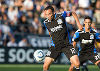 Ramiro Corrales of Earthquakes in action during the game against the Crew at Buck Shaw Stadium in Santa Clara, California on June 2nd, 2010.  San Jose Earthquakes tied Columbus Crew, 2-2.
