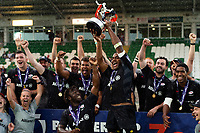 Saracens celebrate victory. Premiership Rugby 7s (Day 2) on July 28, 2018 at Franklin's Gardens in Northampton, England. Photo by: Patrick Khachfe / Onside Images