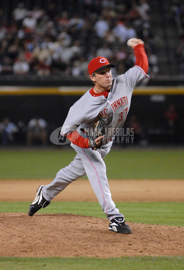 Apr 10, 2007; Phoenix, AZ, USA; Cincinnati Reds pitcher (37) Rheal Cormier pitches against the Arizona Diamondbacks at Chase Field in Phoenix, AZ. Mandatory Credit: Mark J. Rebilas