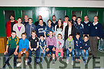 Young rugby players who were honoured at the Killorglin Rugby club in Killorglin on Friday night