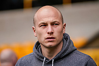 7th March 2020; Molineux Stadium, Wolverhampton, West Midlands, England; English Premier League, Wolverhampton Wanderers versus Brighton and Hove Albion; Aaron Mooy of Brighton & Hove Albion during a pitch inspection before the game