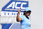 24 April 2016: UNC's Ashley Dai. The University of North Carolina Tar Heels played the University of Miami Hurricanes at the Cary Tennis Center in Cary, North Carolina in the Atlantic Coast Conference Women's Tennis Tournament Championship. North Carolina won the match 4-2.