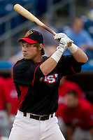 Cody Stanley (35) of the Quad City River Bandits at bat during the Midwest League All-Star Home Run Derby at Modern Woodmen Park on June 20, 2011 in Davenport, Iowa. (David Welker / Four Seam Images)