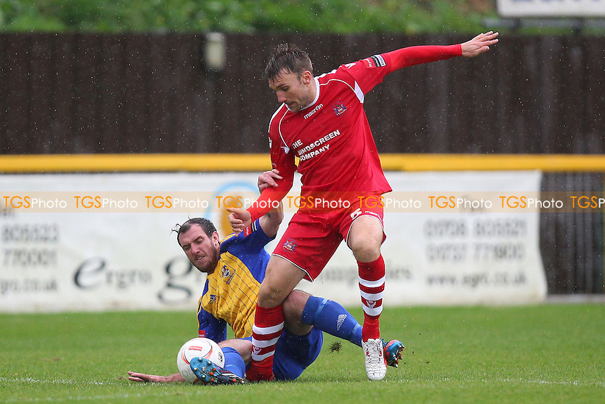 Nick Reynolds in action for Romford - Romford vs Needham Market - Ryman League Division One North Football at Ship Lane, Thurrock FC - 04/10/14 - MANDATORY CREDIT: Gavin Ellis/TGSPHOTO - Self billing applies where appropriate - contact@tgsphoto.co.uk - NO UNPAID USE