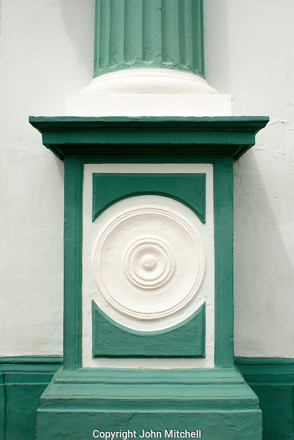 Neoclassical architectural detail of a building in the Spanish colonial city of Granada, Nicaragua