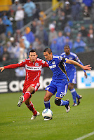 Marco Pappa, Davy Arnaud #22,..Kansas City Wizards played to a 2-2 tie with Chicago Fire at Community America Ballpark, Kansas City, Kansas.