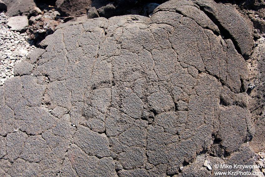 Hawaiian owl (pueo) petroglyph, Kona, Big Island, Hawaii