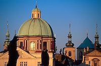 Kreuzherren-Kirche, Prag, Tschechien, Unesco-Weltkulturerbe.