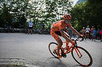 Lukasz Owsian (POL/CCC-Sprandi Polkowice) up the Foza climb (1086m)<br /> <br /> Stage 20: Pordenone › Asiago (190km)<br /> 100th Giro d'Italia 2017