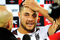Fiji's Jarryd Hayne after the 2017 Rugby League World Cup quarterfinal match between New Zealand Kiwis and Fiji at Wellington Regional Stadium in Wellington, New Zealand on Saturday, 18 November 2017. Photo: Dave Lintott / lintottphoto.co.nz