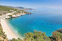 The beach Makris Gialos in Zakynthos island, Greece