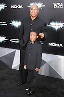NEW YORK, NY - JULY 16:  Hines Ward and Jaden Ward at 'The Dark Knight Rises' premiere at AMC Lincoln Square Theater on July 16, 2012 in New York City.  © RW/MediaPunch Inc.