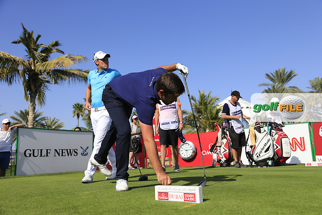 Robert ROCK (ENG) tees off the 13th tee during Sunday's Final Round of the 2015 Omega Dubai Desert Classic held at the Emirates Golf Club, Dubai, UAE.: Picture Eoin Clarke, www.golffile.ie: 2/1/2015