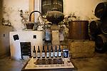 San Bruno brand brandy cognac production in Gonzalez Byass bodega, Jerez de la Frontera, Cadiz province, Spain