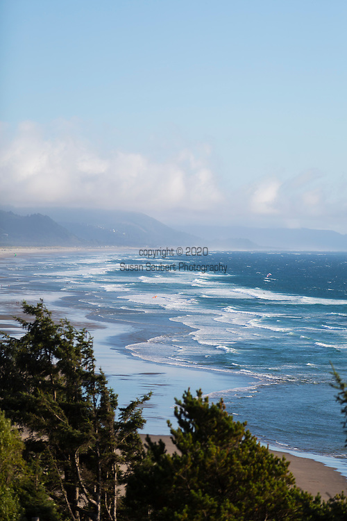 The view of the Pacific ocean from the Awtrey House, a Bed and Breakfast in Manzanita, Oregon