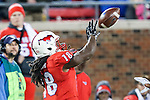 Southern Methodist Mustangs wide receiver Darius Joseph (18) in action during the game between the Tulane Green Wave and the SMU Mustangs at the Gerald J. Ford Stadium in Dallas, Texas.