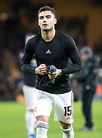 4th January 2020; Molineux Stadium, Wolverhampton, West Midlands, England; English FA Cup Football, Wolverhampton Wanderers versus Manchester United; Andreas Pereira of Manchester United  taking his shirt to the supporters after the match - Strictly Editorial Use Only. No use with unauthorized audio, video, data, fixture lists, club/league logos or 'live' services. Online in-match use limited to 120 images, no video emulation. No use in betting, games or single club/league/player publications