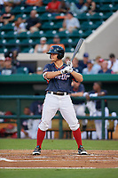 Florida Fire Frogs Tyler Neslony (20) bats during the Florida State League All-Star Game on June 17, 2017 at Joker Marchant Stadium in Lakeland, Florida.  FSL North All-Stars defeated the FSL South All-Stars  5-2.  (Mike Janes/Four Seam Images)