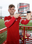 David Templeton with his player of the month award