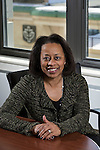 Stephanie Smith, who has 30 years of experience in human resources, was named DePaul's vice president for Human Resources in 2012. Smith is responsible for the recruitment, development, planning and retention of a diverse workforce to accomplish the university's strategic objectives and mission. (DePaul University / Jamie Moncrief)