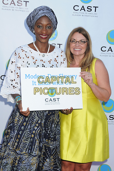 29 May 2014 - Los Angeles, California - Hafsat Abiola, Kay Buck. 16th Annual &quot;From Slavery to Freedom&quot; Gala Event held at The Skirball Center.  <br /> CAP/ADM/BP<br /> &copy;Byron Purvis/AdMedia/Capital Pictures