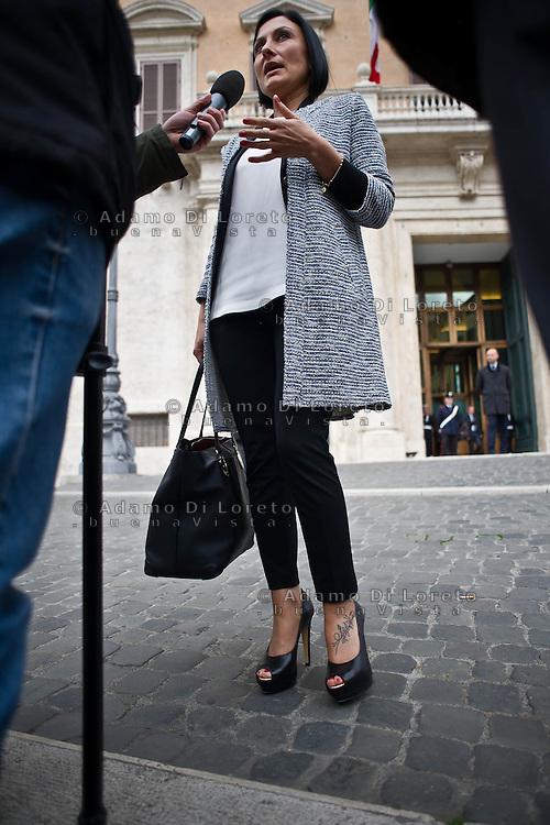 ROMA 15/03/2012: Inizia la XVII Legislatura della Repubblica Italiana. L'ingresso degli Onorevoli a Montecitorio. Nella foto  Alessia Morani PD FOTO DI LORETO ADAMO