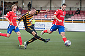 Alloa's Eddie Ferns scores their third goal.