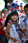 Images from the Kinderland Nursery School patriotic parade in Carson City., on Wednesday, July 3, 2013. <br /> Photo by Cathleen Allison
