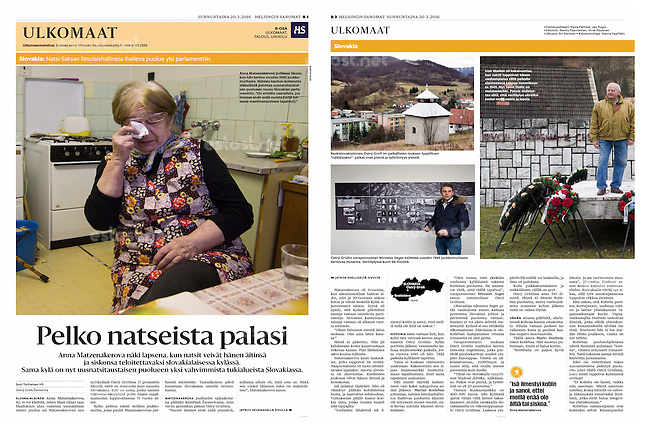 Helsingin Sanomat (leading Finnish daily) on nazi warcrimes, Slovakia, March 2016<br />
