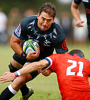 Henco Venter of the Cell C Sharks during the preseason rugby match between The Cell C Sharks and Russia at Jonsson Kings Park Stadium in Durban, South Africa on Friday, 10 January 2020. Photo: Steve Haag / stevehaagsports.com