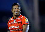 Manu Tuilagi in action for Leicester Tigers - Rugby Union - Leicester Tigers vs Cardiff Blues - pre-season friendly - Welford Road Leicester - 29th August 2014 - Picture - Malcolm Couzens/Sportimage
