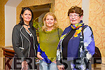 At the Autumn Bites Tralee Parnells Fundraiser Cookery Demonstration with Chef Mark Doe  at the Meadowlands Hotel on Friday were l-r Aileen O'Connor, Kay O'Connor and Margaret O'Connor.