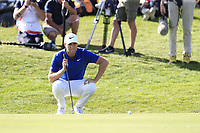 Lucas Bjerregaard (DEN) on the 18th green during Sunday's Final Round 4 of the 2018 Omega European Masters, held at the Golf Club Crans-Sur-Sierre, Crans Montana, Switzerland. 9th September 2018.<br /> Picture: Eoin Clarke | Golffile<br /> <br /> <br /> All photos usage must carry mandatory copyright credit (&copy; Golffile | Eoin Clarke)