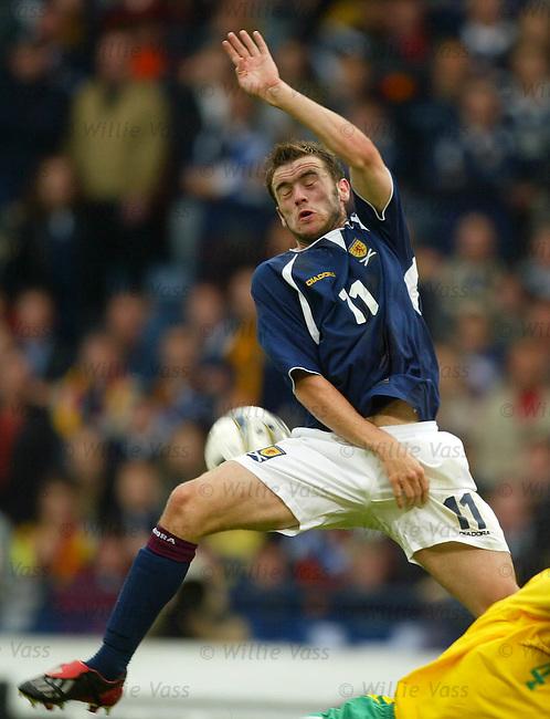 James McFadden, Scotland.Stock season 2003-2004.pic willie vass