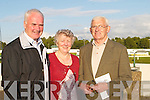 DOGS: A night at the dogs at Kingdom Greyhound Stadium, Tralee, on Friday. L-r: John Barry, Helen Barry and Anthony Slattery (Tralee)..